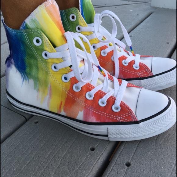 26745040e048 Converse Shoes - Brand new rainbow  converse worn to take photos